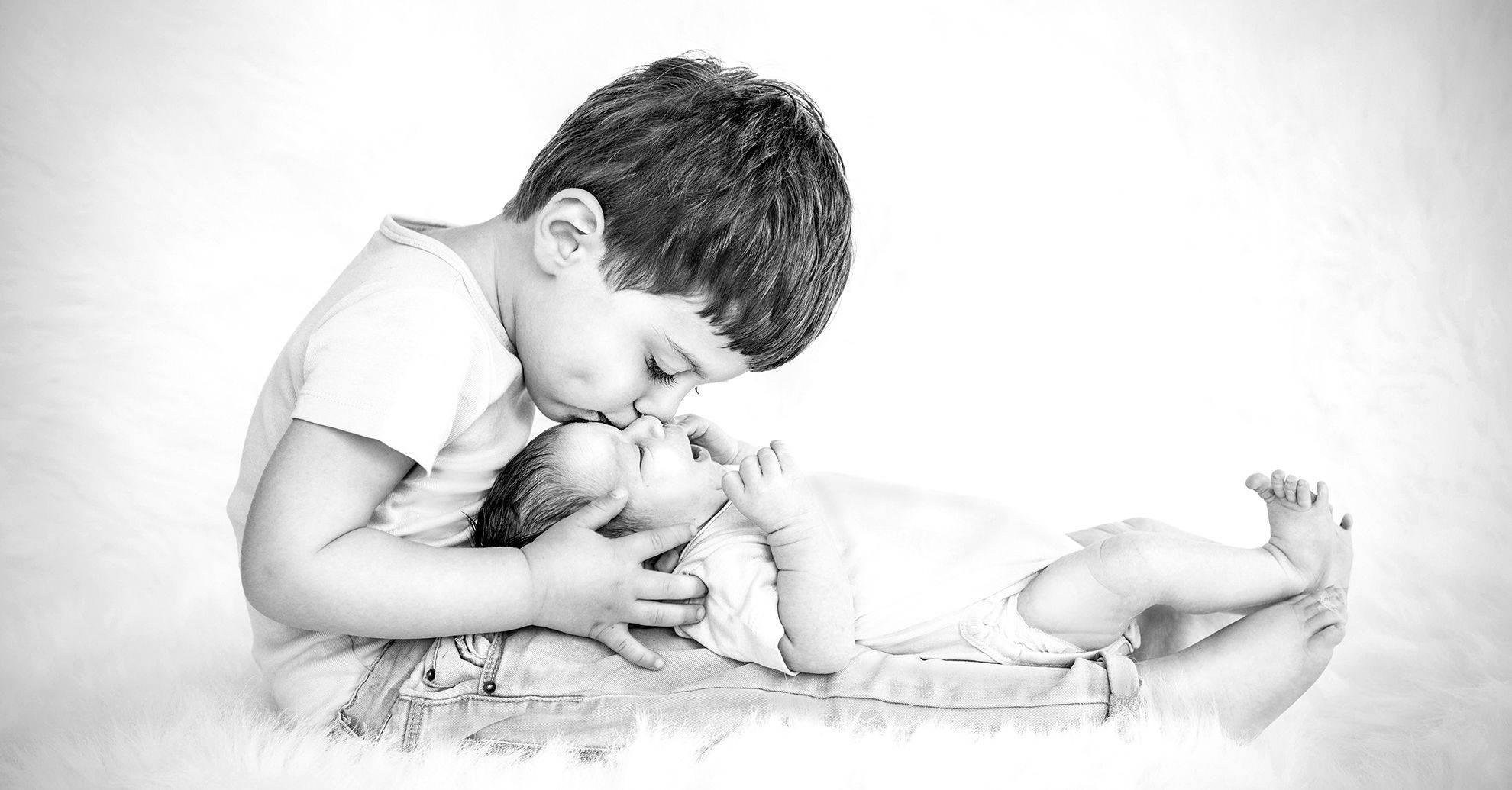 Familien- und Kinderbilder in vertrauter Umgebung