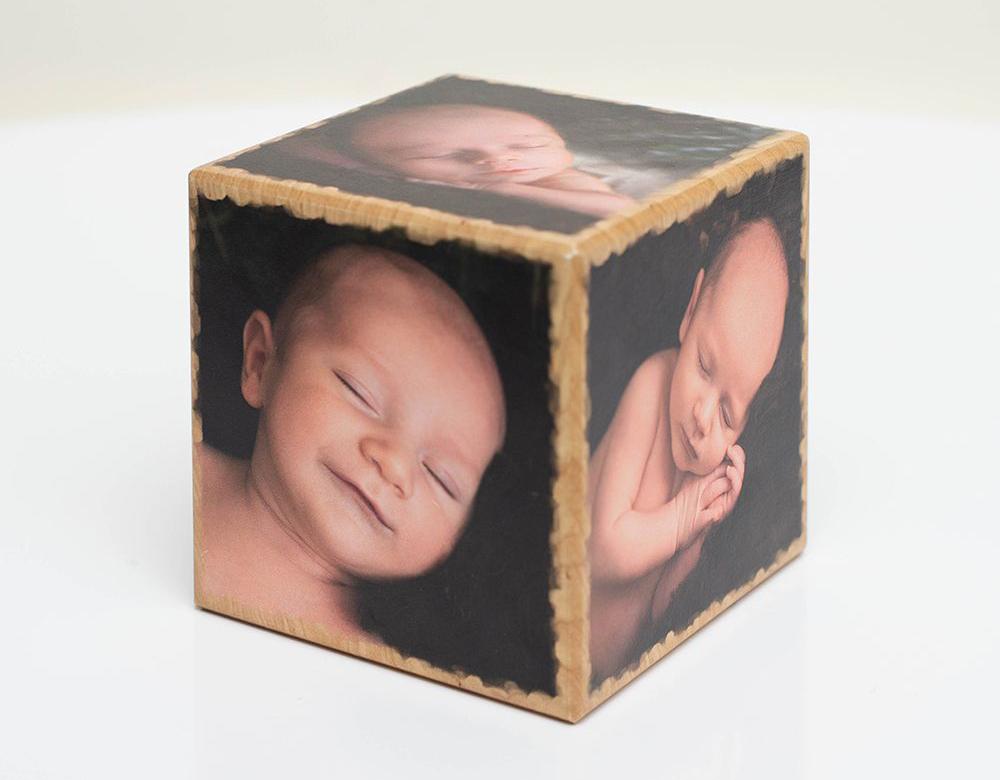 Holz-Fotowürfel