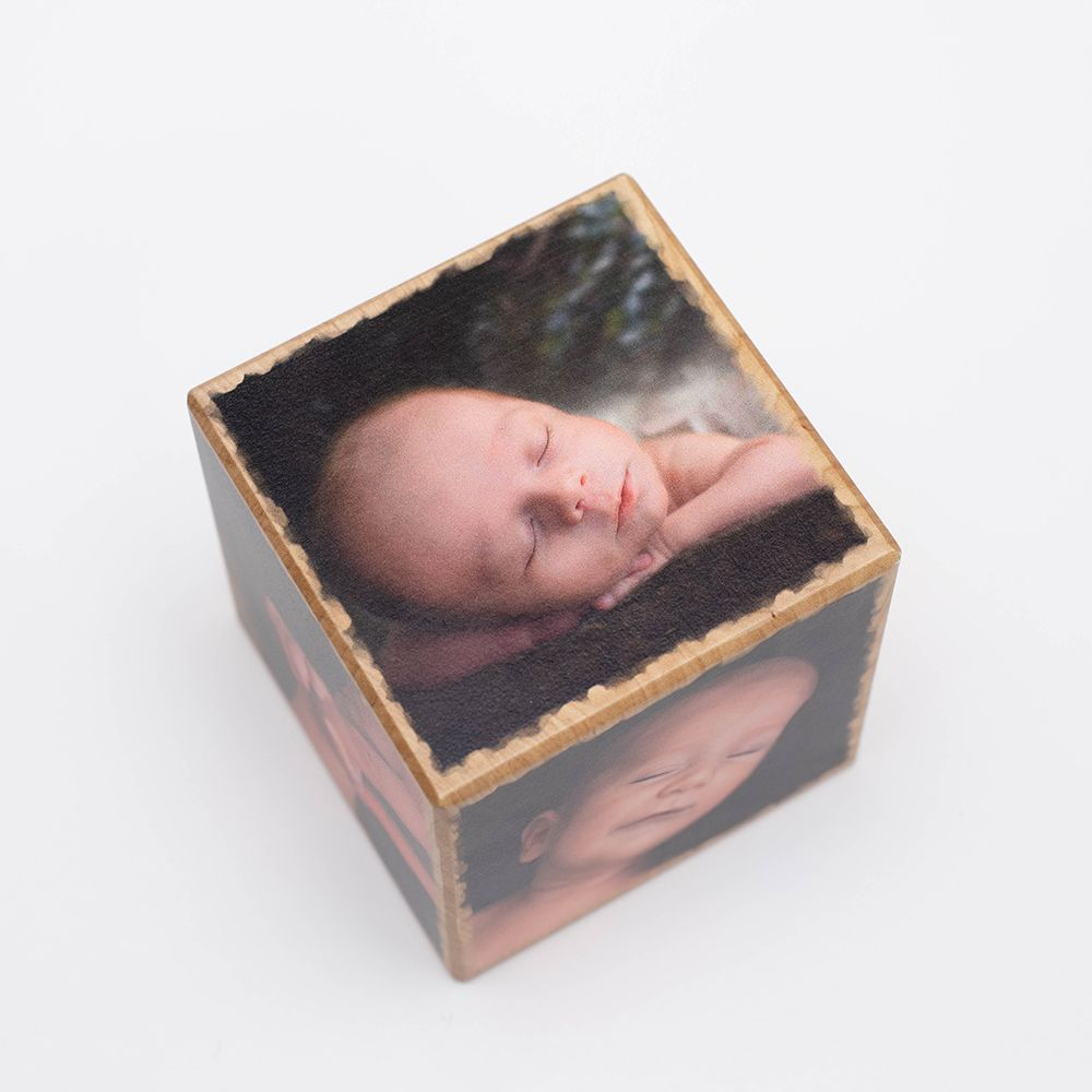 Fotowürfel Holz Geschenk