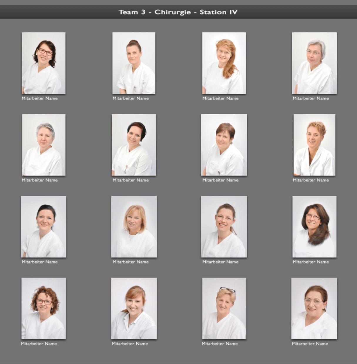 Firmen- und Mitarbeiterportraits in einheitlichem Fotografie-Stil