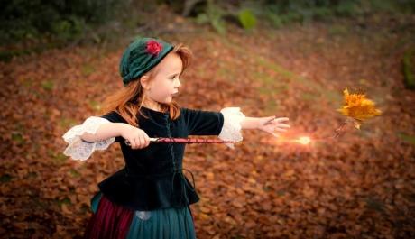 Die Kleine-Hexe übt teleportieren