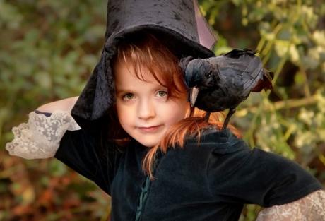 Die kleine Hexe-Mädchenfoto