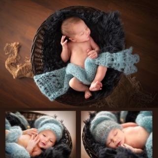 Newbornshooting-mit-Körbchen